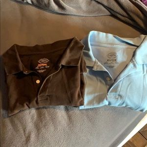 Brown and light blue men's polo